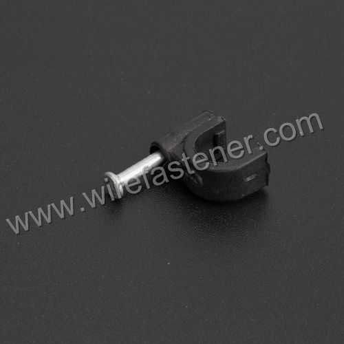 Plastic Material and Circle Nail Clip Type adhesive cable clip - 副本