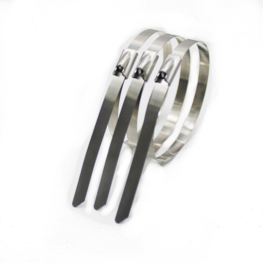 10pcs Strong Stainless Steel Bundle Grade Metal Cable Ties Zip Tie Wraps Exhaust Silver