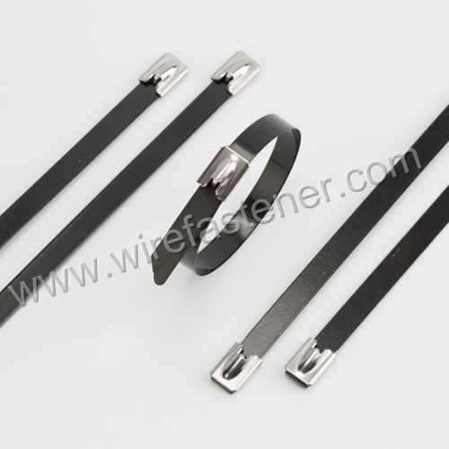 Stainless Steel Coated Cable Tie-Ball Self-Lock
