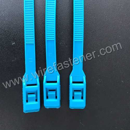 Double Locking Colored Heavy Duty Nylon Adjustable Lock Plastic Cable Tie Wire Manufacturer Pull Zip