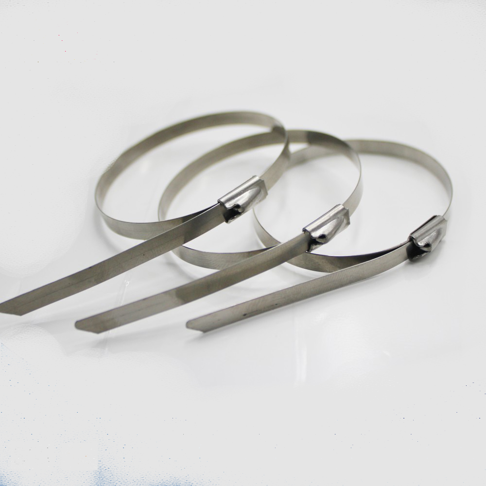 300 x 7.9mm Stainless Steel Roller Ball Cable Ties Pack of 50