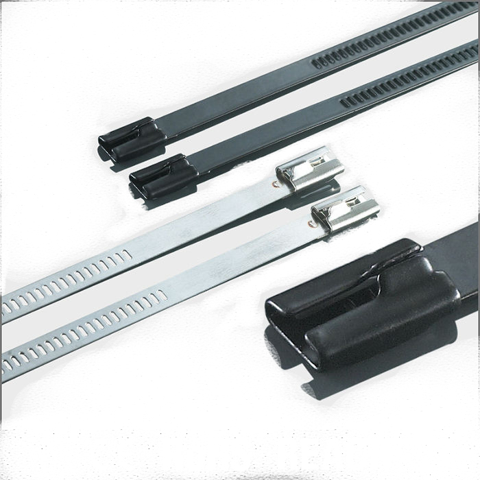350mm Long 4.6mm Wide Stainless Steel Sprayed Cable Tie 20PCS