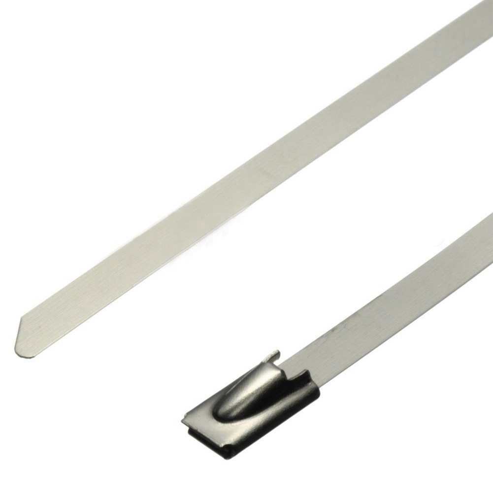 SS 304 Natural Stainless Steel cable tie  with different width and length